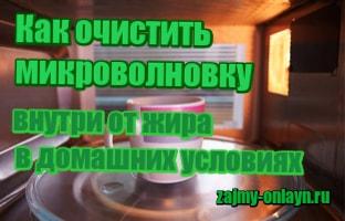 фото Как очистить микроволновку внутри от жира в домашних условиях