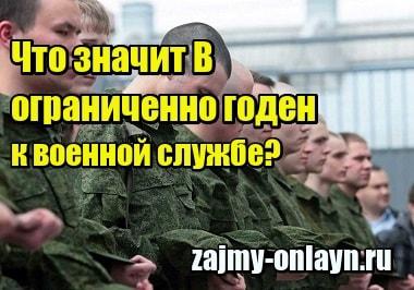 Миниатюра Что значит В – ограниченно годен к военной службе