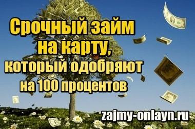 Фотография Срочный займ на карту, который одобряет на 100